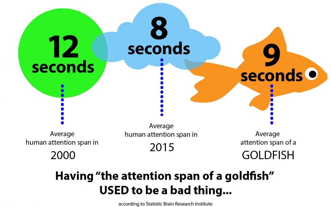 Meditation and movement learn Tai Chi graphic explaining human attention span